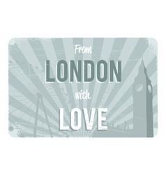 London postcard design vector