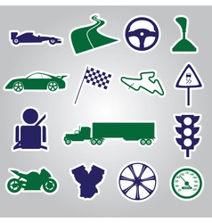 Automotive stickers collection eps10 vector