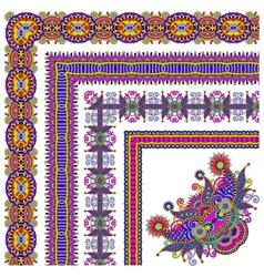 Collection of ornamental floral vintage frame vector