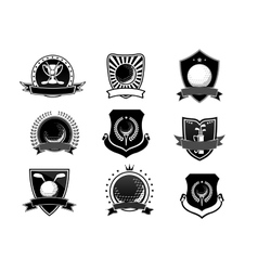 Golf sports emblems and symbols set vector