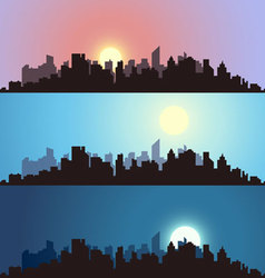 Cityscape backgrounds vector