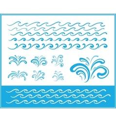 Set of wave symbols for design vector