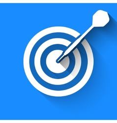 Darts target icon vector