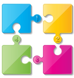 Puzzle infoghaphics vector