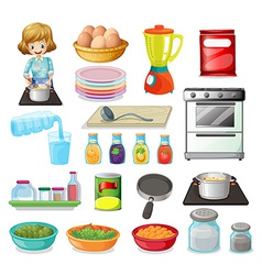 Food and kitchenware vector