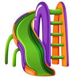 A colourful slide at the park vector