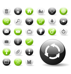 Glossy web icon set vector