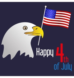 American independence day celebration with eagle vector