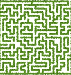 Maze from leaves vector