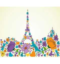 Springtime paris vector