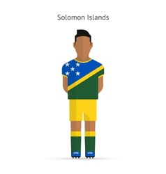 Solomon islands football player soccer uniform vector