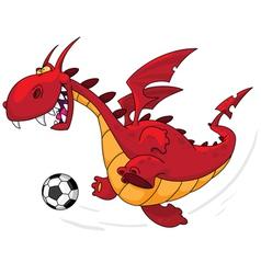 Dragon footballer vector
