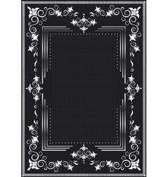 Decorative frame for silver decor vector