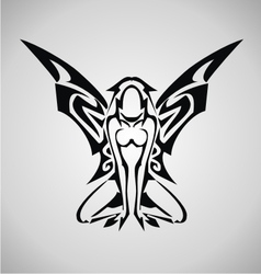 Tribal angel vector