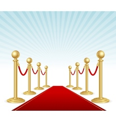 Red event carpet vector