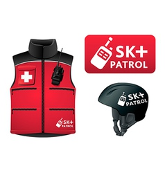 Ski patrol style vector