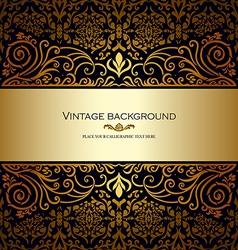 Vintage card royal gold vector
