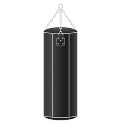Punching bag for boxing 01 vector