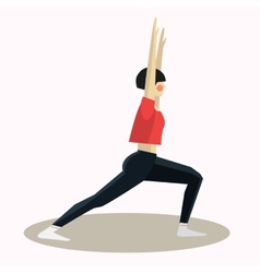 Yoga pose woman silhouette vector