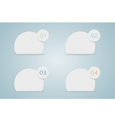 Infographic numbered step bubbles 4 vector