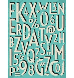 Vintage letters and numbers vector
