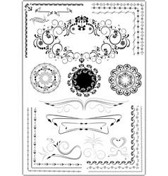 Decorative border ornament vector