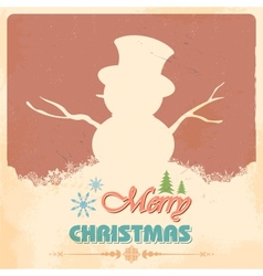 Snowman in merry christmas vector