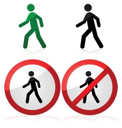Walking sign vector