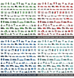 480 transport icons vector