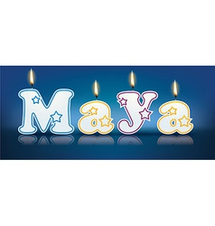 Maya written with burning candles vector