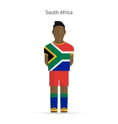 South africa football player soccer uniform vector