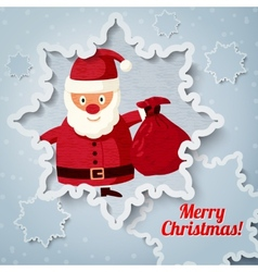 Merry christmas greeting card with place for your vector