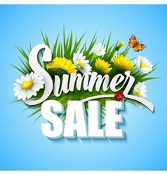 Summer and spring sale template vector
