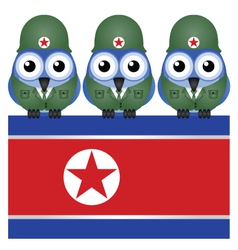 North korea flag army vector