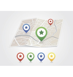 Map pointer with heart icon vector