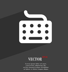 Keyboard icon symbol flat modern web design with vector
