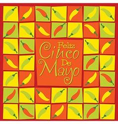 Cinco de mayo chilli card in format vector