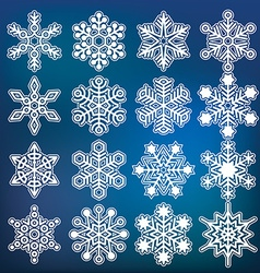 Snowflake collection vector