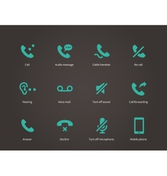 Phone and communication icons set vector