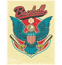 American eagle grip a baseball bat vector