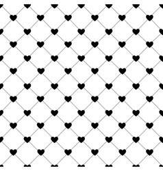 Valentines day seamless hearts pattern vector