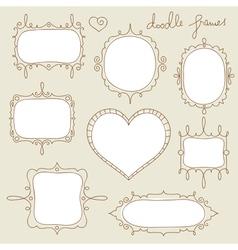 Doodle frame set vector