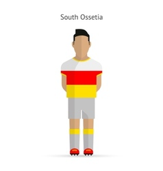 South ossetia football player soccer uniform vector