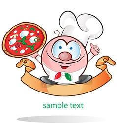 Italian chef cartoon vector