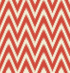 Retro modern ikat chevron vector