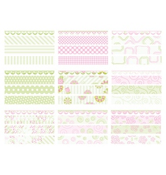 Set of elements for design collection for mom vector