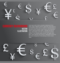 Business background with various money symbol vector