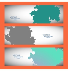 Set of three colored abstract spots vector