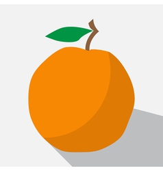 Orange and long shadow vector