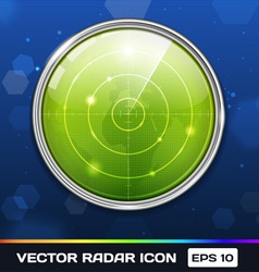 Green radar icon vector